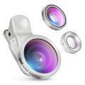 Amir 3 in 1 Clip on Camera Lens Kit Bundle of Fisheye Lens