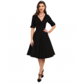Unique Vintage 3/4 Sleeve Delores Swing Dress