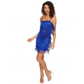 Speakeasy Tiered Fringe Flapper Dress